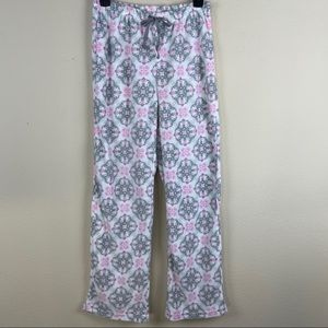 FLANNEL PAJAMA Gray and Pink Bottoms S